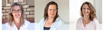 Portrait von Dr. Martina Rufender, Susan Kieser, Manuela Mayer